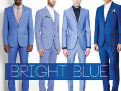 Bright Blue | Groom Suits on Bride Bubble - Wedding & Style Blog.