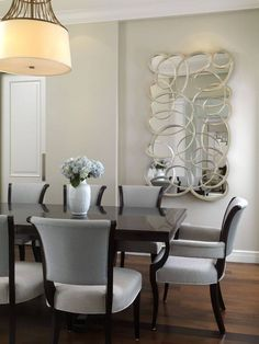 Dining Room Contemporary clean, crisp contemporary styling.very comfortable, very livable