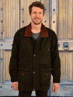 Higgs Leathers  Yates (two tone Nubuck 3/4 length men's leather jackets)