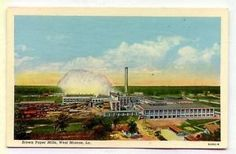 Brown-Paper-Mills-West-Monroe-LOUISIANA-OLD-WHITE-BORDER