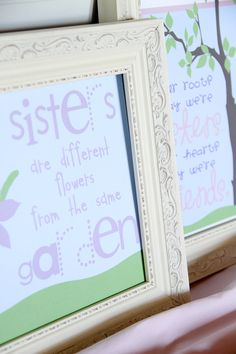 SISTER  Art QUOTES - Sisters & Friends  -  Two pack Print - 8x10