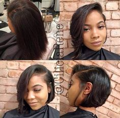How To Style Bob Hair Adorable Bob Haircuts For African American Women  Hair  Pinterest  African