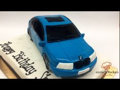 Auto Torte 3D   Car cake   mit Anleitung und Rezept   einfachBacken Schweiz - YouTube