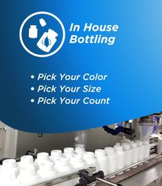 As a private label supplement manufacturer we offer a wide range of different bottling options. See the different private label bottling options here.