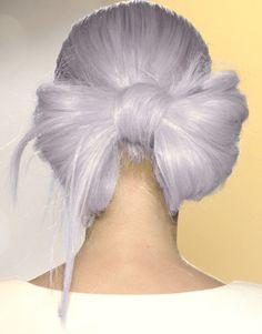 Lilac hair bow
