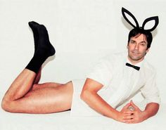 """""""Jon Hamm"""" The male counterpart to the 'playboy bunny'. Well, this model isn't to my tastes (a bit too old for me for one thing) I did cincerely Laugh Out Loud at this one. Had there been people in the house to wake, I would have woken them. XD"""