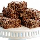 Raw Chocolate-Chia Energy Bars Recipe | Vegetarian Times.  I made with pistachios because B loves them.  cls