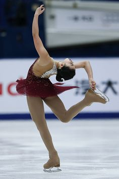 Karen Chen of United States perform during the Ladies Short Program on day one of Audi Cup of China ISU Grand Prix of Figure Skating 2015 at Beijing...