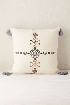 4040 Locust Samote Embellished Pillow - Urban Outfitters