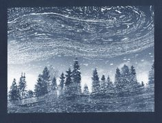 Stream | cyanotype on watercolour paper, digital negative | Pirjo Lempeä Cyanotype, Watercolor Paper, Waves, Digital, Outdoor, Outdoors, Outdoor Living, Garden, Wave
