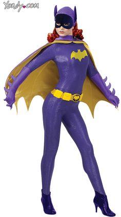 Grand Heritage Batgirl Costume, Retro Batgirl Costume, Sexy Batgirl Halloween Costume, Purple Bat Girl Costume