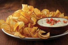 Applebee's Copycat Recipes: Potato twisters and queso blanco dip Appetizer Recipes, Snack Recipes, Cooking Recipes, Appetizers, Oven Recipes, Recipies, Applebees Recipes, Copycat Recipes, Dressings