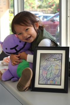 Yup, this is adorable! Looks like she loved her Budsie :)