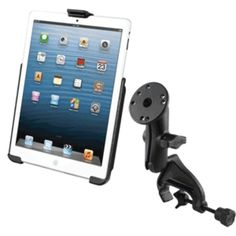 RAM Mount Yoke Clamp Mount w/Apple iPad mini EZ-ROLLR Cradle