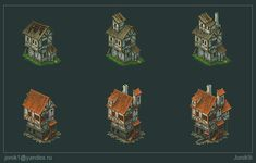 Buildings for game. Part 2 by Jonik9i.deviantart.com on @deviantART