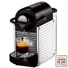 [COLOMBO]Cafeteira Nespresso Pixie Steel -C60 + FRETE (retirada gratuita p/ SUL)