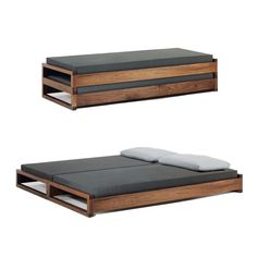 With no hardware or gizmos, this stacking bed—available in beech, maple, American cherry, walnut, and white glazed oak—is as fetching configured as a twin or as a double.