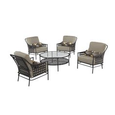Hampton Bay Lynnfield 5-Piece Patio Chat Set-HD14500 at The Home Depot-