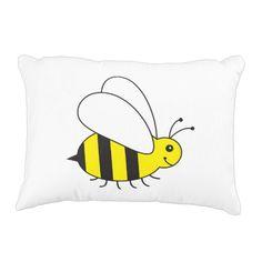 Cute Little Bumble Bee Cartoon Decorative Pillow