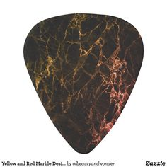 Yellow and Red Marble Design Guitar Pick - modern gifts cyo gift ideas personalize Guitar Bag, Guitar Picks, Cool Gifts, Acoustic, Guitars, Prints, Marble, Template, Gift Ideas