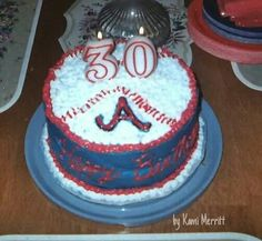 Atlanta Braves Baseball cake