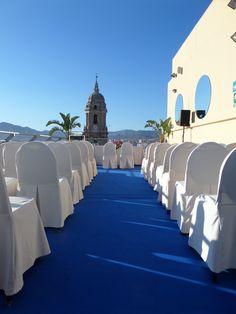 Boda en la terraza de AC Hotel Malaga Palacio by Marriott / Wedding on our terrace