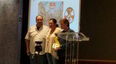 Recibiendo el premio #JT2015 Jugamos Todos 2015 por el juego #Victus.