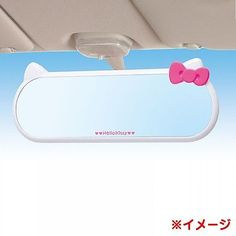 Hello-Kitty-Car-Accessory-Rearview-Back-Mirror-Driving-Ribbon-Sanrio-From-Japan