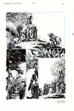 Comic Art For Sale from Splash Page Comic Art, Hellboy The Wild Hunt Issue 5 Page 16 by Comic Artist(s) Duncan Fegredo