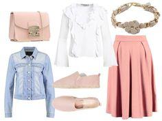 Girly street style look. Summer fashion