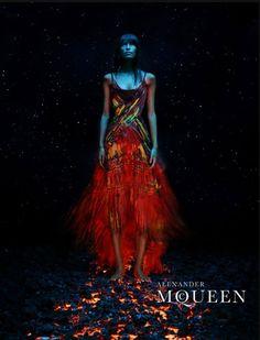 Alexander McQueen Spring/Summer 2003 (Ad Campaign) Model: Nanda Hampe Photographer: Steven Klein