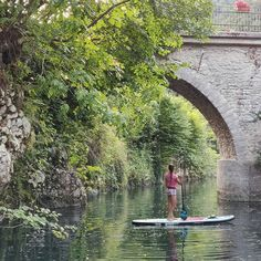 I fell totally in love with this cute bridge on the river Idrija 😍 There are so many places worth visiting and I can't wait to hit the water again🛶 💚 Repost 📍 :Most na Soci paddling Sup Girl, Inflatable Sup Board, Sup Stand Up Paddle, Places Worth Visiting, Standup Paddle Board, Sport Motivation, Paddle Boarding, I Fall, Summer Fun