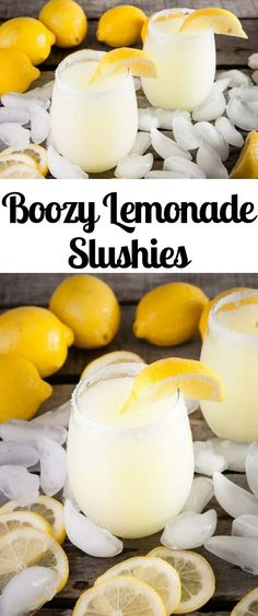 Drink recipe for boozy lemonade slushies with frozen lemonade, limoncello, and c. CLICK Image for full details Drink recipe for boozy lemonade slushies with frozen lemonade, limoncello, and citrus vodka Beste Cocktails, Frozen Cocktails, Summer Cocktails, Limoncello Cocktails, Sangria Cocktail, Vodka Cocktails, Limoncello Recipe, Lemonade Cocktail, Martinis