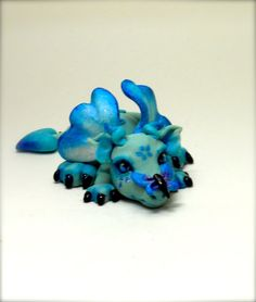 Adorable polymer clay baby dragon Adaline by WOODLANDCRITTERS