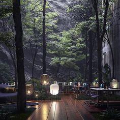 15 Home Decor Trends in 2020 Interior Design Games, Interior Decorating, Beautiful Homes, Beautiful Places, Design Exterior, Home Decor Trends, Decor Ideas, Restaurant Design, Forest Restaurant