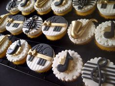 Jazz Cupcakes~! Michel Camilo Musician Cupcakes ~! Personalized Cupcakes ~!