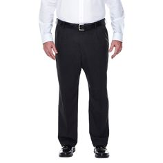 Haggar H26 - Big & Tall Classic Fit Stretch Suit Pants Charcoal (Grey) 50x29