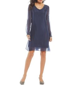 336414b7f98 M Made in Italy Long Sleeve Dress Free Gift Cards
