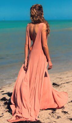 Mara Hoffman Linen V Neck Maxi Dress | Nic del Mar