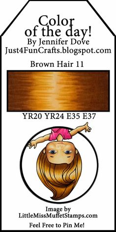 Copic Color of the Day 156 Brown Hair 11 and DoveArt Studios Copic Marker Art, Copic Pens, Copic Art, Copic Sketch Markers, Copics, Prismacolor, Copic Color Chart, Copic Colors, Color Charts