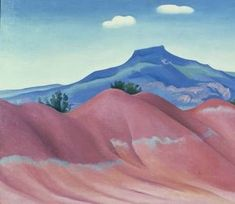 """"""" -Georgia O'Keeffe, 1965 One of Georgia O'Keeffe's largest sources of inspiration at Ghost Ranch is Cerro Pedernal, often known simply as Pedernal. New Mexico, Mexico Art, Wisconsin, Santa Fe, Georgia O'keefe Art, Georgia O Keeffe Paintings, Funny Weather, Francisco Goya, New York Art"""