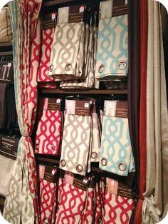 Kirkland's shopping adventure---Grommet curtains. $34.99 for 2 panels. February 2014.