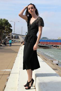 Vintage 30s/40s midi dress: Short Sleeve Midi Dress Women | XS, Short Sleeve Midi Dress, Black Midi Dress, Midi Dress Women, Crochet Top Dress, Peplum, Midi Dress, 30s https://etsy.me/2EDgYwA #30sdress #40sdress #mididress #vintageblackdress
