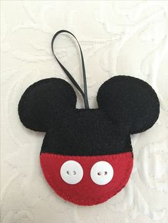 Felt crafts, felt ornament, Mickey Mouse, made by Janis