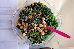 Sauteed Kale & Chickpea Salad by Ashley & Stephen