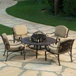 Copperton 7-piece Patio Chat Group Love the interchangeable fire pit/barbecue/table center!