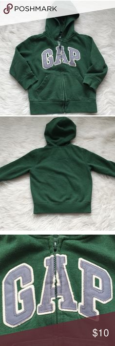 Green GAP Zip Up Hoodie Preloved long sleeve zip up hoodie in great condition! Please feel free to ask questions. Thank you for shopping my Closet! ;) GAP Shirts & Tops Sweatshirts & Hoodies