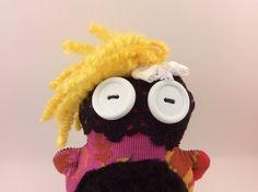 Madonna, Mini Chubbee Doll, Plush Stuffed Creature, Handmade