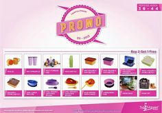Promo Buy 2 Get 1 Free Tulipware September - Oktober 2013
