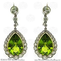 peridot and diamond drop earrings are a must have..happy bay to me? Anyone? Haha